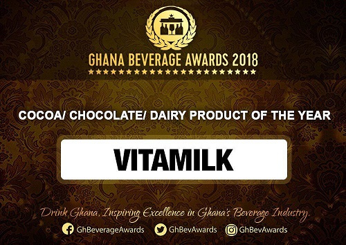 Vitamilk Ghana wins Cocoa/Chocolate/Diary Product of the Year Award